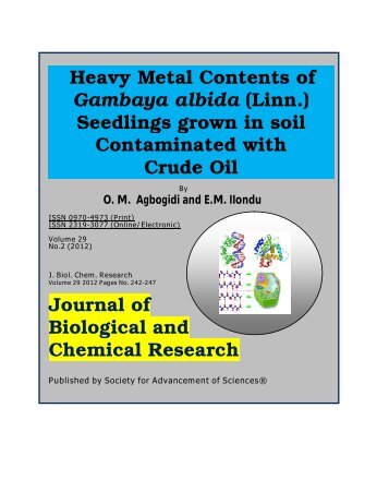 Download - Journal of Biological and Chemical Research