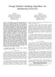 Google Scholar's Ranking Algorithm: An Introductory ... - Jöran Beel