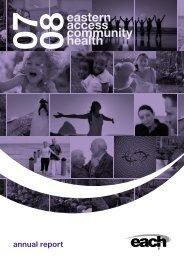 Annual report 2007-2008 - EACH