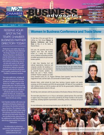 The Business Advocate April 2011 - Tempe Chamber of Commerce