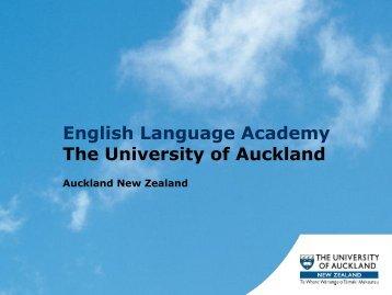 English Language Academy The University of Auckland