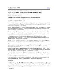 52% de jóvenes no se protegió en inicio sexual - Injuv