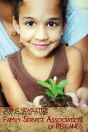 Spring newsletter - Family Service Association of Redlands