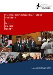 2011/12 Annual Report - Australian Intercollegiate Meat Judging ...