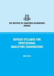 Syllabus for ICAG Qualifying Examinations - The Institute of ...