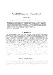 Phase-Field Simulations of Crystal Growth - Laboratoire de ...