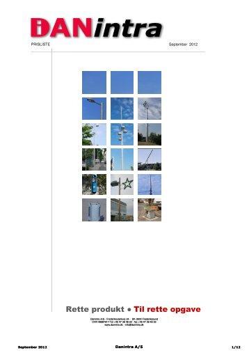 Prisliste 2012 ORIGINAL heri laves rettelser version ... - DANintra A/S