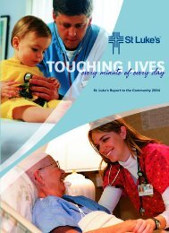 St. Luke's Report to the Community 2004