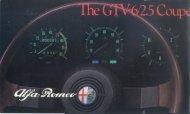 GTV6, réf part 8663, USA, 1983 - GTV6 et 156 GTA