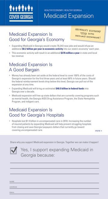 Medicaid Expansion - Georgians for a Healthy Future