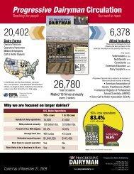 Progressive Dairyman Circulation - Progressive Dairyman Magazine
