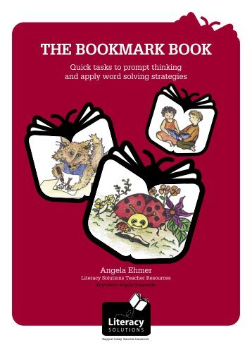 The Bookmark Book - (Blackline Masters) (Part 1) - Literacy Solutions