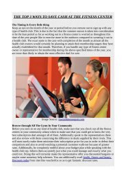THE TOP 3 WAYS TO SAVE CASH AT THE FITNESS CENTER.pdf