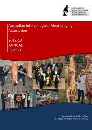 2012/13 Annual Report - Australian Intercollegiate Meat Judging ...