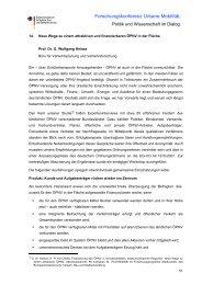 Forschungskonferenz Urbane Mobilität. - Mobilität 21