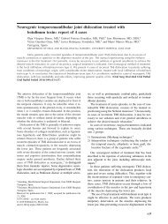 Neurogenic temporomandibular joint dislocation treated ... - SOMICS