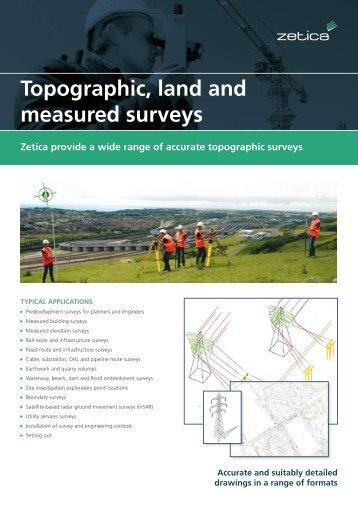 Topographic, land and measured surveys flyer - Zetica