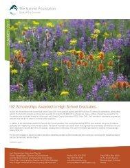 102 Scholarships Awarded to High School Graduates SUMMER 2011