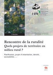 Rencontre de la ruralité - Ateliers du territoire