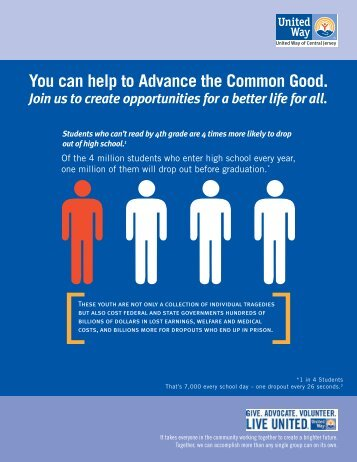 You can help to Advance the Common Good. - United Way of ...