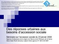 des réponses urbaines aux besoins d'accession sociale