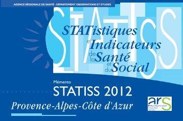 Télécharger le Mémento Statiss Paca 2012 - ARS Paca