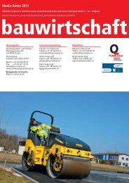 Media-Daten 2013 - Schweizer Bauwirtschaft