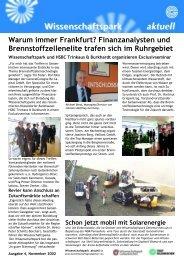 Finanzanalysten und Brennstoffzellenelite trafen sich im Ruhrgebiet