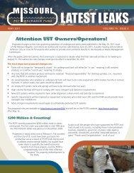 May 2011 - Missouri Petroleum Storage Tank Insurance Fund (PSTIF)