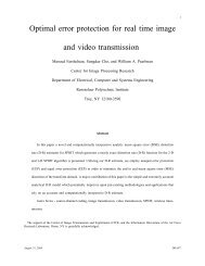 Optimal error protection for real time image and video transmission