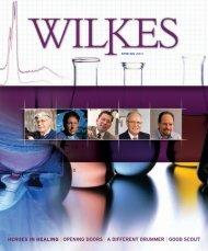 heroes in healing   opening doors   a different ... - Wilkes University