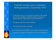 Fairfield nursing home, Edwalton, Nottinghamshire, December 1975
