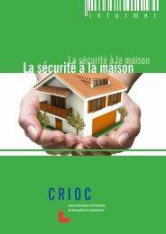 La sécurité à la maison - Crioc