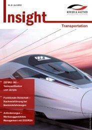 8. Newsletter 'Insight Transportation' (pdf 1,7 MB - Berner & Mattner