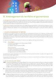 8. Aménagement du territoire et gouvernance - Ateliers du territoire