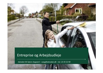 Entreprise og Arbejdsudleje af Advokat Søren Aagaard - Danmarks ...