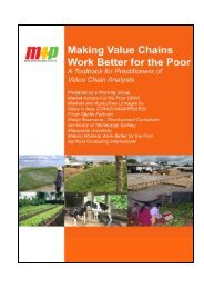 Making Value Chains Work Better for the Poor