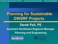 Planning for Sustainable DWSRF Projects