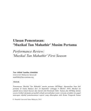 Ulasan Pementasan: 'Muzikal Tun Mahathir' Musim ... - Wacana Seni