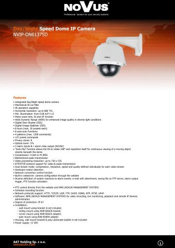 Day/Night Speed Dome IP Camera NVIP-DN6137SD