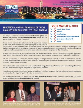 The Business Advocate March 2010 - Tempe Chamber of Commerce