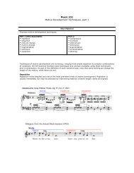 Music 231 Motive Development Techniques, part 1 - Jkornfeld.net