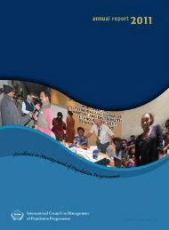 Annual Report 2011 - International Council on Management of ...