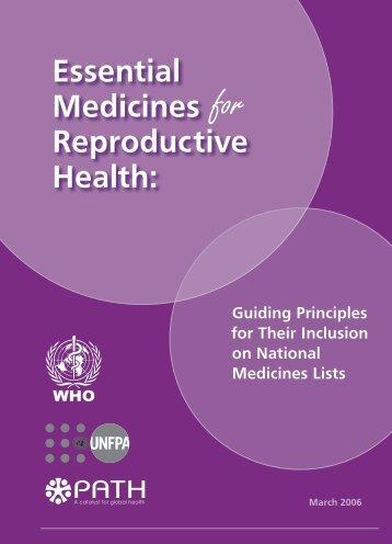 Essential Medicines Reproductive Health: - UNFPA