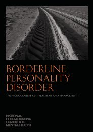 Borderline Personality Disorder - National Institute for Health and ...