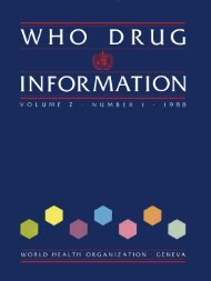 INFORMATION - World Health Organization