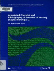 Annotated Checklist and Bibliography of Parasites of Herring ...
