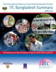 ITC Bangladesh Summary - International Tobacco Control Project