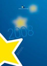 Rapport financier 2008 - Affine
