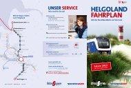 HELGOLAND FAHRPLAN - Regio-S-Bahn